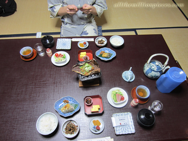 Ryokan breakfast at Takayama
