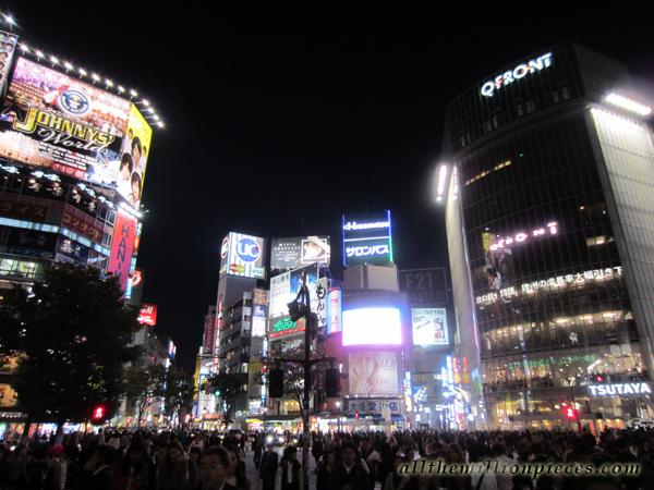 Shibuya yöllä
