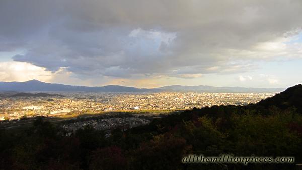 Upeat maisemat apinapuistosta Kiotossa