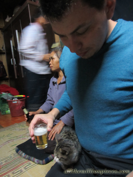 Beerlao and a cat