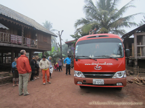 Stray bus in Laos