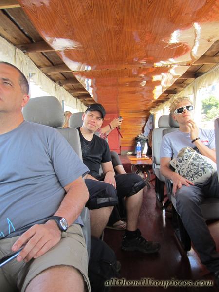 On a boat to Luang Prabang