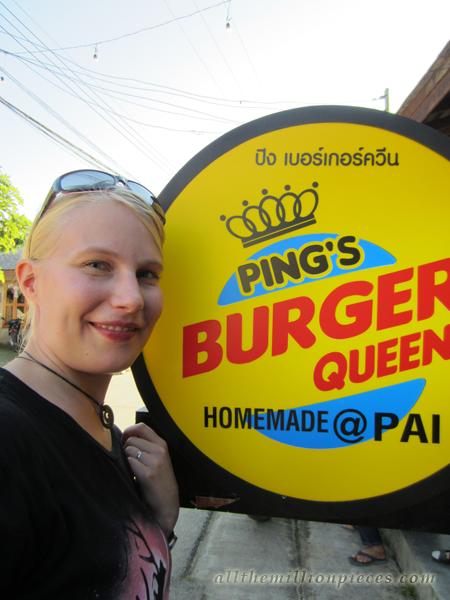 Burger Queen in Pai, Thailand