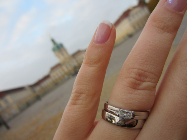 It's my wedding ring! Oh, and Charlottenburg.
